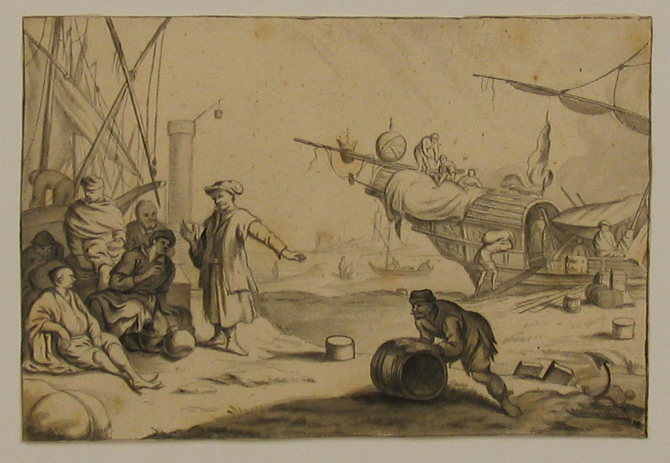 P. van der Kloet, Loading and Unloading on a Vessel, c. 1735, Nasher Museum, Duke