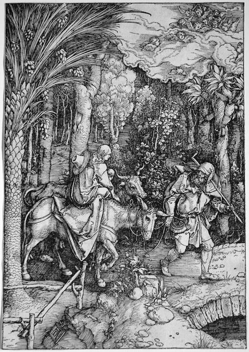 Albrecht Dürer, Flight into Egypt, 1511, Ackland Museum, UNC, Chapel Hill
