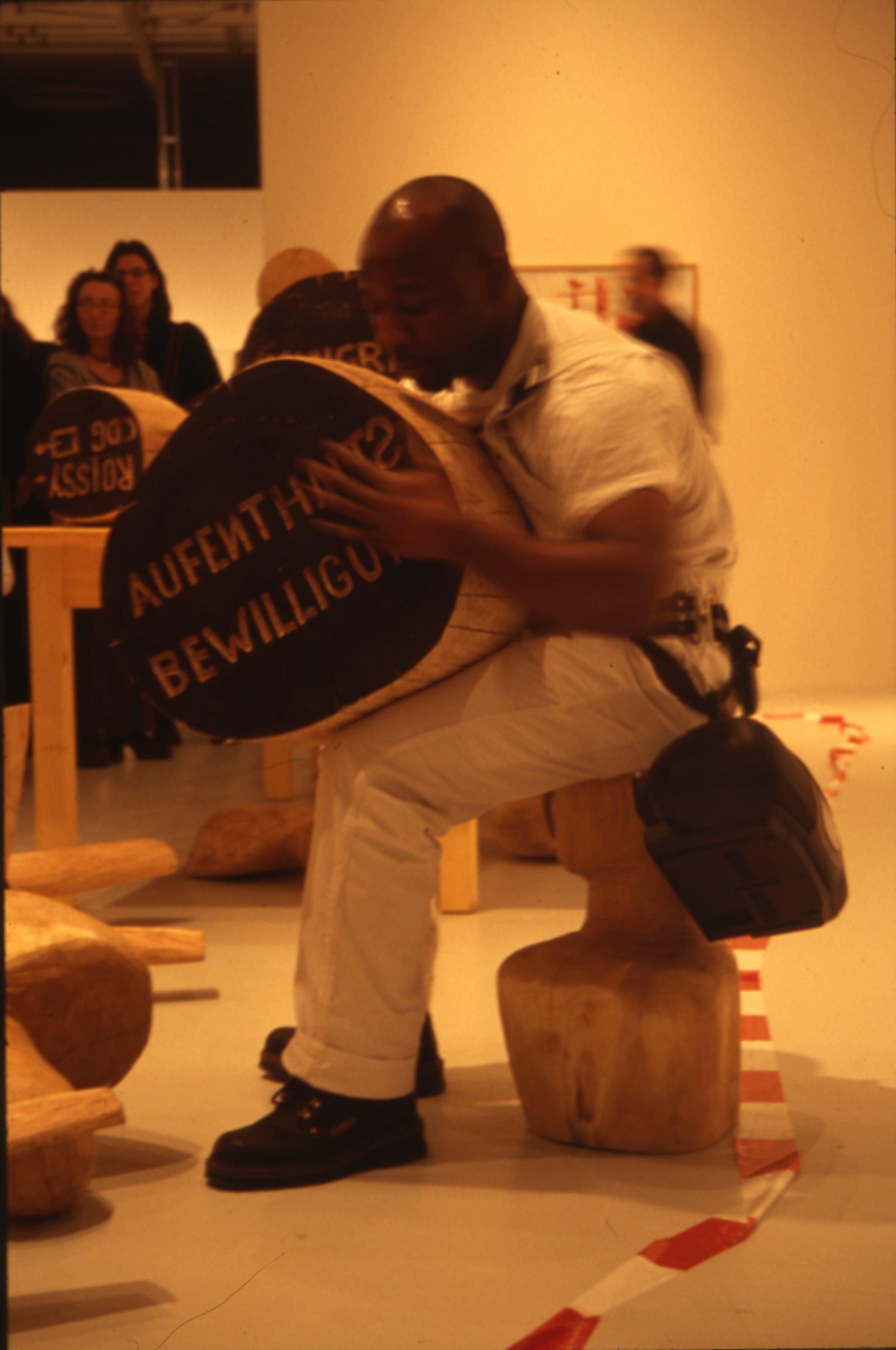 Barthélémy Toguo performing The New World Climax, 2011, courtesy of the artist